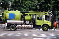 排水设备卡车 库存照片