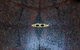 排水设备的孔在万神殿,著名罗马寺庙的大理石地板 免版税图库摄影