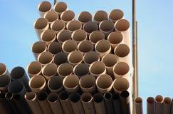 排水设备管道 免版税库存照片