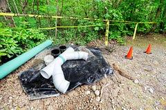 排水设备维护 免版税库存图片