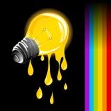 排泄光的电灯泡 库存图片