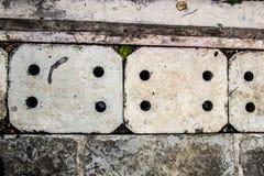 排泄在混凝土的花格 库存图片