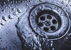 排泄在水槽 库存照片