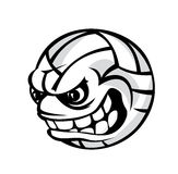 排球动画片球 免版税库存图片