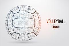 排球球的剪影 也corel凹道例证向量 免版税图库摄影