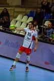 排球运动员马尔科Ivovic,排球俱乐部Belogorye 俄国 别尔哥罗德州 免版税图库摄影