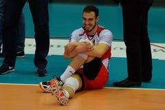 排球运动员马尔科Ivovic,排球俱乐部Belogorye 俄国 别尔哥罗德州 库存图片