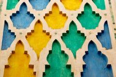 排行在摩洛哥非洲colorated地板陶瓷摘要 库存图片