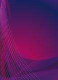 排行垂直的紫罗兰 免版税库存图片