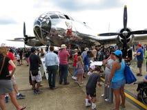 排行看在B29轰炸机里面 免版税库存图片