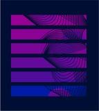 排行紫色长方形 免版税库存图片
