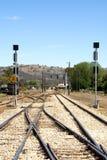 排行铁路 免版税图库摄影
