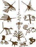 排行nazca 图库摄影