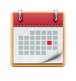排进日程图标 免版税库存照片