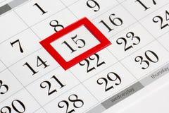 排进日程页与月选择的中间日期  库存图片