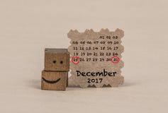 排进日程2017年11月 免版税库存图片