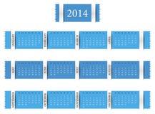 排进日程年2014年 向量例证