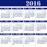 排进日程年2016年 免版税库存图片