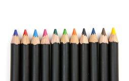 排队的着色铅笔 免版税图库摄影