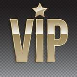 排他性,与闪烁的标签VIP的金黄标志 图库摄影