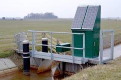 排水设备泵站。 免版税库存图片