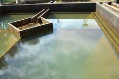 排水设备水滤清的建筑 免版税库存照片