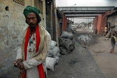 掘泥机印地安人 免版税库存照片