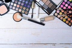 掠过化妆用品构成 库存图片