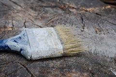 掠过在木背景 绘的木表面 免版税库存照片