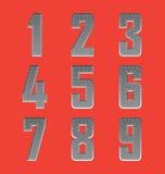 掠过的金属字体系列4 库存照片