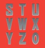 掠过的金属字体系列3 免版税库存图片