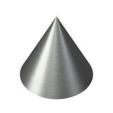 掠过的锥体金属发光的银 免版税库存照片