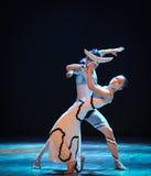 探戈舞蹈差事到迷宫现代舞蹈舞蹈动作设计者玛莎・葛兰姆里 免版税库存图片