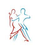 探戈舞蹈摘要1业务保险摘要 免版税库存图片
