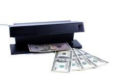 探测器钞票和金钱 免版税库存图片