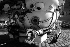 探测深海小潜艇 免版税库存照片