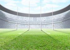 探照灯照明的体育场天 向量例证