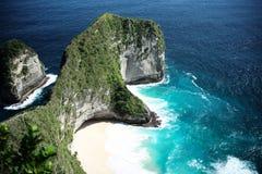 探索东南亚海岛叫努沙Penida 库存照片