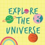 探索宇宙印刷品海报 向量例证