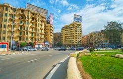 探索开罗,埃及街市  免版税库存照片