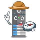 探险家在动画片形状的服务器数据 皇族释放例证