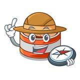 探险家在动画片形状的罐装金枪鱼 皇族释放例证