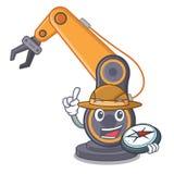 探险家工业机器人手隔绝与动画片 库存例证