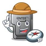 探险家按钮在动画片输入隔绝 库存例证