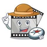 探险家条纹在动画片形状的电影玩具 库存例证