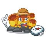 探险家橙色海绵珊瑚动画片在海 库存例证