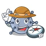 探险家玩具矿水中字符在桌里 库存例证