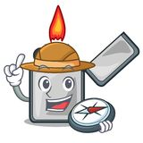 探险家香烟打火机隔绝与动画片 库存例证