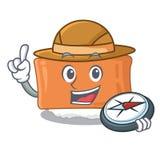 探险家inari寿司被服务动画片板 库存例证