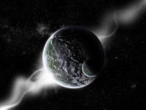 探险展开行星宇宙 库存例证